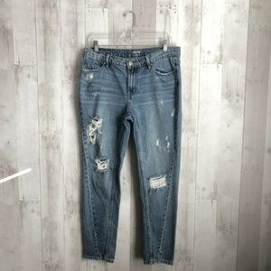 [Urban Outfitters] Distressed Slim Boyfriend Jeans